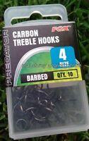 Fox Predator Carbon Treble Hooks barbed and semi barbed