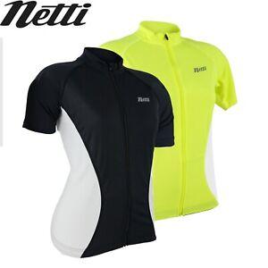 Netti Cruze Womens High-Visibility Cycling Jersey - Black, Yellow
