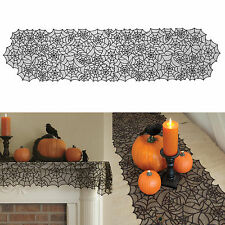 Halloween Tablecloth Table Runner Spiderweb Fireplace Cover Cloth Party Decor