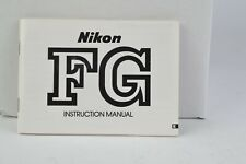 Nikon Fg Camera Instruction Manual User Guide English (197)