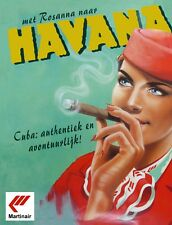 "TIN SIGN ""Havana Cigars"" Nicotine Deco Garage Wall Decor"
