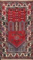 Vintage Tribal Geometric Anatolian Turkish Oriental Area Rug Wool Handmade 4'x6'