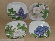 4 Plates Romance Flowers Block Langenthal Gary Bukovnik Hydrangea Gardenia Lilac