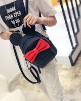 Korean Style Womens Girls PU Leather Shoulder School Bags Backpack Handbags