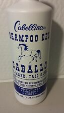 SHAMPOO DEL CABALLO CABELLINA 32 OZ FOR MANE, TAIL AND BODY ALL HAIR TYPES