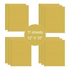 11 Sheets Glod HTV Iron On Heat Transfer Vinyl for T-Shirts Cricut Silhouette