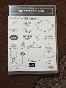 Stamping Up Sweetest Thing Bundle Die set ( paper pack, die and stamp set)