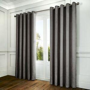 Serene PORTOBELLO Slate Grey Damask Curtains , Bedding & Cushions Collection