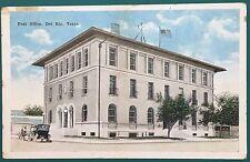 DL723 Early Del Rio Texas TX Post Office Vintage PC