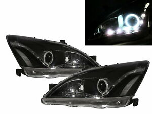 ACCORD CM MK7 2003-2007 4D CCFL Projector R8Look Headlight Black for HONDA LHD