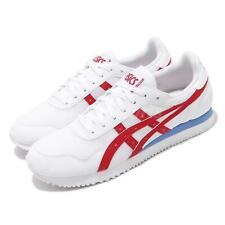 Asics Tiger Runner White Red Blue Men Retro Running Shoes Lifestyle 1191A207-04