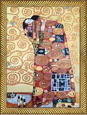 Gustav Klimt THE EMBRACE Oil Painting on Giclee18x24 Framed Canvas **SALE