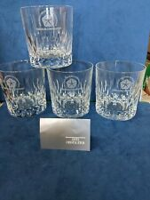New listing Lead Glass Tumbler Chrysler Corporation promo set of 4 in original box 1996