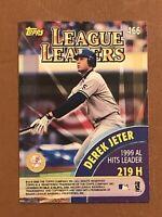 2000 Topps League Leaders Card #466 Luis Gonzalez Derek Jeter MINT