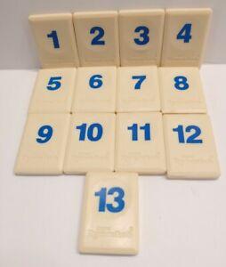 "Original Rummikub 1998 Replacement Tiles BLUE Numbers 1-13 Pressman 1"" x 1.5"""