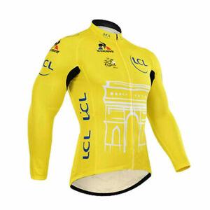 Retro Tour de France LCL Cycling Jersey Long Sleeve Pro Clothing Bike Cyclisme
