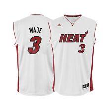 2556aae0fa9 Dwyane Wade NBA Adidas Men's Miami Heat Home White Replica Jersey