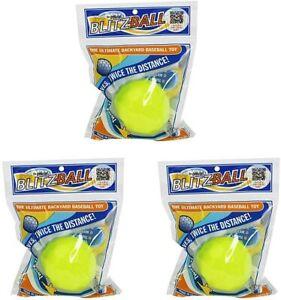3-Pack BLITZBALL Plastic Baseball Training Blitz Ball Dude Perfect Curve Swerve