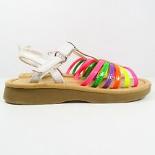 Faded Glory Sandals in White/Multicolored Size 8 (Toddler)