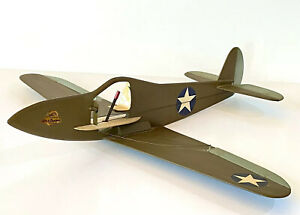 """COMET PILOT AIR-O-TRAINER Profile model of a WWII P-39 fighter 24"""" WS Postwar"""