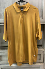 Nike Dri-fit Polo Shirt Gold And Gray Striped Mens Size XXL