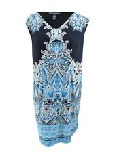 INC International Concepts Women's Plus Size Printed Shift Dress