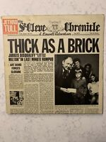 JETHRO TULL Thick As A Brick REPRISE LP VG+ with attached newspaper *