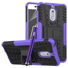 Nokia 6 Case, Heavy Duty Armour Tough ShockProof Builder Hard Back Case Cover