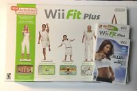 Wii Fit With Balance Board Nintendo Wii - Tested - Works Fit Plus With Games