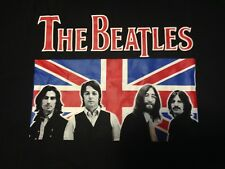 New The Beatles British Flag Blue T Shirt Large
