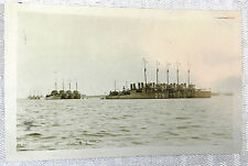 RPPC Real Picture Postcard DESTROYERS ANCHORED SAN DIEGO BAY Undivided Bunnell