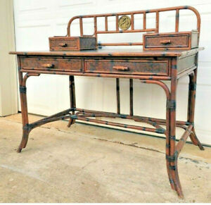 Ernest Hemingway British Colonial Style Writing Desk *Collector's Piece*