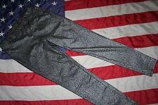 FADED GLORY Silver Legging Skinny Pants Size Medium: slacks/jeans/dressy  #4604