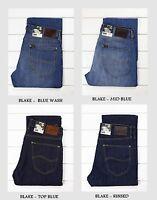 NEW LEE BLAKE REGULAR STRAIGHT JEANS  DARK/MID BLUE  L30/L32/L34/L36 - All Sizes