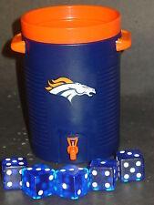 NFL Denver Broncos Dice Cup & Dice, NEW