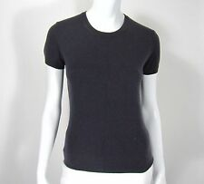 BANANA REPUBLIC SHORT SLEEVE CASHMERE WOMEN SWEATER SIZE S SMALL SOLID GRAY