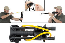 Combat Ready Blow Dart/Slingshot Combo 2-in-1. Aluminum slingshot arms and blowg