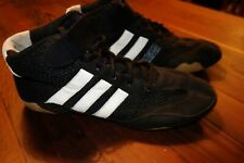 Adidas Mens Wrestling Shoes Ape 779001 Black Athletic Lace Up Boot Mma Size 8