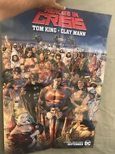 "Heroes in Crisis 24 x 36"" Promo Poster DC Comics Tom King Clay Mann Folded"