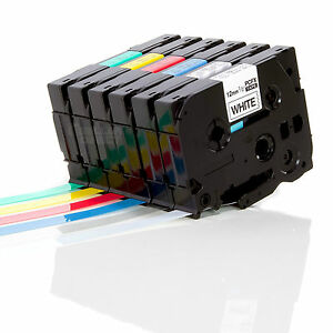 Label Tape Compatible with Brother P-Touch Laminated Tze, Tz 18mm, 12mm, 9mm