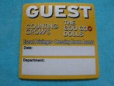 Counting Crows The Goo Goo Dolls Escort Privileges 3 Inch Backstage Pass Sticker