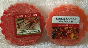 YANKEE CANDLE***SPARKLING CINNAMON & AUTUMN BLOOMS***WAX MELTS~~0.8 oz/22 g~~NEW