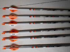 @NEW@ 6 Beman ICS Hunter 400 Carbon Arrows w/ Dip Crest Blazer Vanes! WILL CUT!