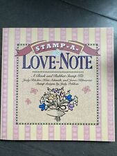 Stamp a Love Note Book & Rubber Stamp Kit High Lauter Levin Associates new