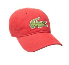 31c1691bb35 New Lacoste Men s Cotton Gabardine Hat Baseball Cap with Large Crocodile  Croc