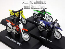 Dirt Bike - Motocross Collection of 4 different 1/32 Scale Diecast Metal Models