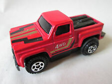 Marz Karz Red 1:77 Toyota 4WD Motorized Pull-Back Action Pickup Truck #S8288 HK