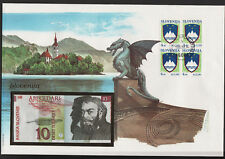 "Slovenia 10 Tolarej 1992 in comm folder with stamps ""Philswiss"""
