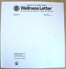Wellness Letter - Winter 2017 / 2018 Special Edition (Braille for the blind)