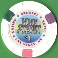$1 Casino Chip from the Main Street Station in Las Vegas, Nevada